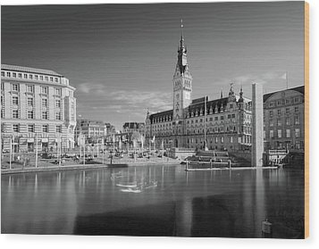 Hamburg - Binnenalster Wood Print by Marc Huebner