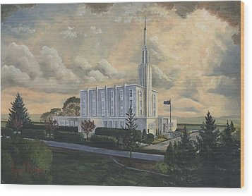 Hamilton New Zealand Temple Wood Print by Jeff Brimley