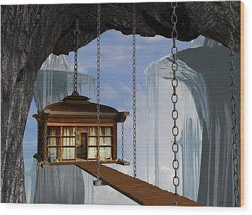 Hanging House Wood Print by Cynthia Decker
