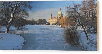 Hanover In Winter Wood Print by Marc Huebner