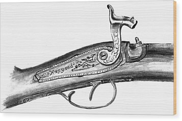 Hapgood Musket Wood Print by Kevin Callahan