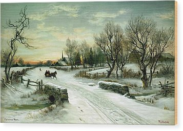 Wood Print featuring the painting Happy Holidays by Travel Pics