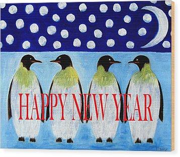 Happy New Year 5 Wood Print by Patrick J Murphy