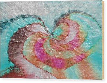 Happy Valentine's Day Wood Print by Linda Sannuti