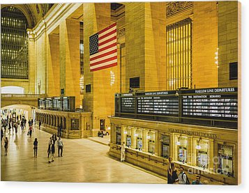 Wood Print featuring the photograph Grand Central Pride by M G Whittingham