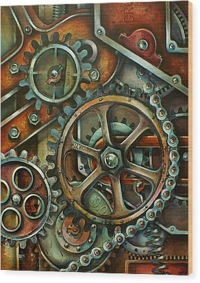 'harmony 3' Wood Print by Michael Lang