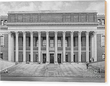 Widener Library At Harvard University Wood Print by University Icons