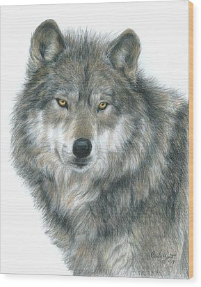Haunting Eyes Wood Print by Carla Kurt