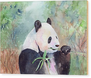 Having A Snack Wood Print by Arline Wagner
