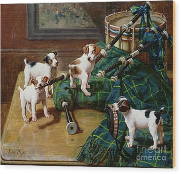 He Who Pays The Piper Calls The Tune Wood Print by John Hayes