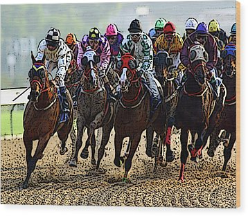 Heading For Thefinish Line Wood Print by Ben Freeman