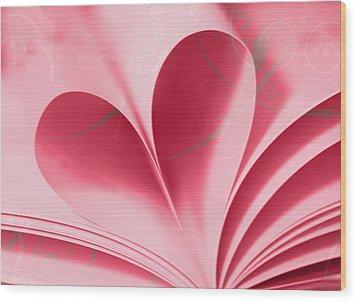 Heart A Flutter Wood Print by Rebecca Cozart