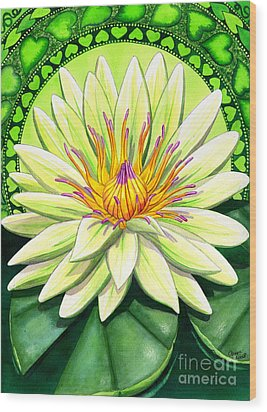 Heart Chakra Wood Print by Catherine G McElroy