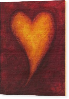 Heart Of Gold 2 Wood Print by Shannon Grissom