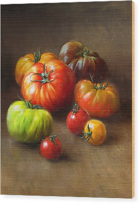 Heirloom Tomatoes Wood Print by Robert Papp