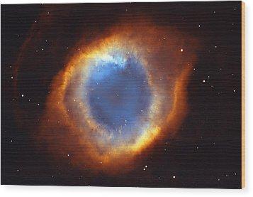 Helix Nebula Wood Print by Ricky Barnard
