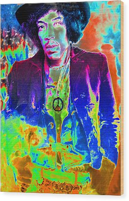 Hendrix Wood Print by David Lee Thompson