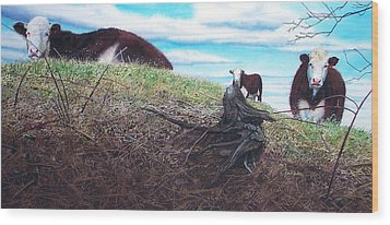 Hillside Retreat Wood Print by Denny Bond