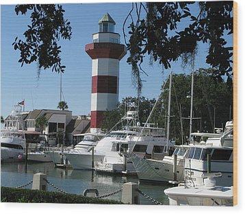 Hilton Head South Carolina Light House Wood Print by Richard Singleton