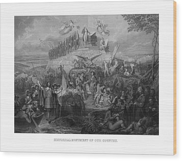 Historical Monument Of Our Country Wood Print by War Is Hell Store