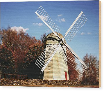 Historical Windmill Wood Print by Lourry Legarde