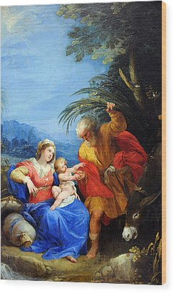 Holy Family Wood Print by Munir Alawi