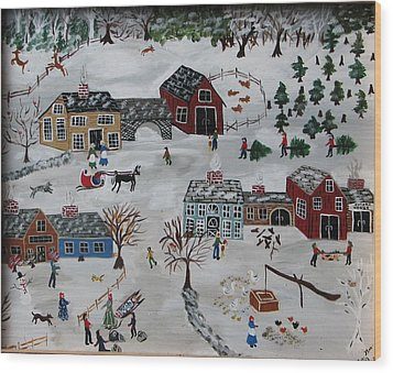 Home For The Hoildays Wood Print by Lee Gray