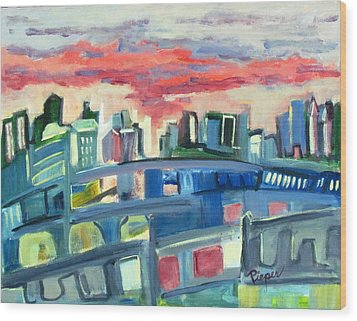 Home To The Softer Side Of City Wood Print by Betty Pieper