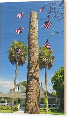 Hometown Fourth Wood Print by Sheri McLeroy