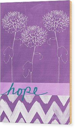 Hope Wood Print by Linda Woods