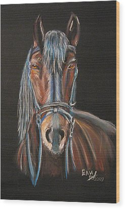 Horse Wood Print by Eli Marinova