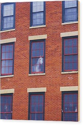 Horse In An Upstairs Window Wood Print by Anna Villarreal Garbis