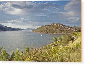 Horsetooth Dam Co Wood Print by James Steele