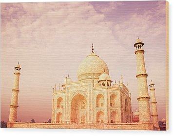 Hot Taj Mahal Wood Print by Nila Newsom