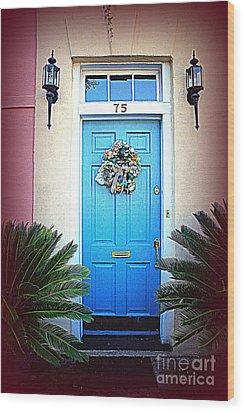 House Door 6 In Charleston Sc  Wood Print by Susanne Van Hulst