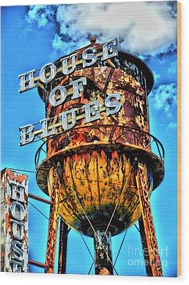 House Of Blues Orlando Wood Print by Corky Willis Atlanta Photography