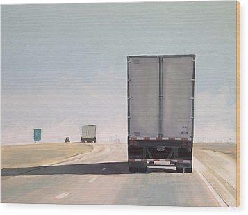 I-55 North 9am Wood Print by Jeffrey Bess