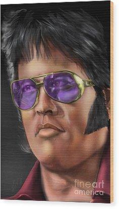 I Remember Elvis Wood Print by Reggie Duffie