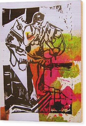 icarus II Wood Print by Adam Kissel