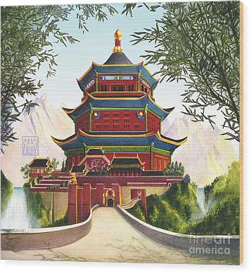 Imperial Palace Wood Print by Melissa A Benson