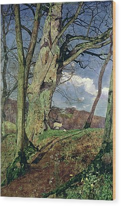 In Early Spring Wood Print by John William Inchbold