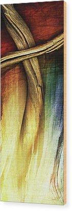 In Light Of The Cross Wood Print by Shevon Johnson