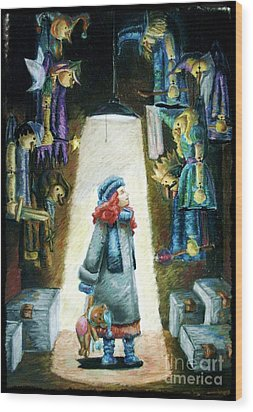 In The Closet Of The Puppeteer Wood Print by Yagmur Telorman