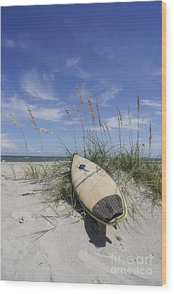 In The Dunes Wood Print by Benanne Stiens