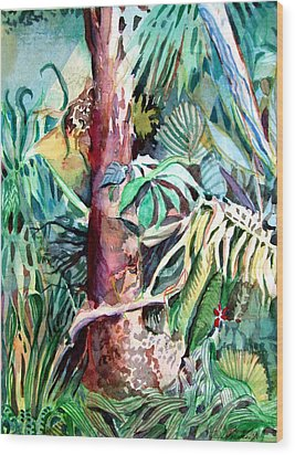 In The Jungle Wood Print by Mindy Newman