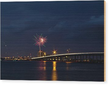 Independence On The River Wood Print by Nicholas Evans