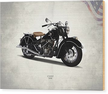 Indian Chief 1946 Wood Print by Mark Rogan