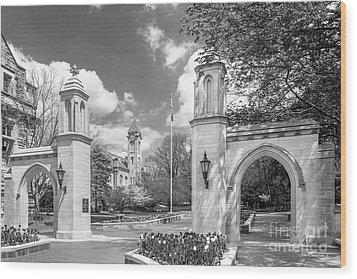 Indiana University Sample Gates Wood Print by University Icons