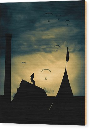 Industrial Carnival Wood Print by Bob Orsillo