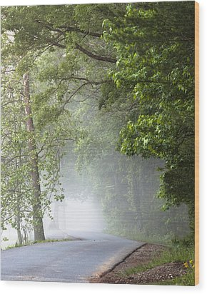 Into The Fog Wood Print by Andrew Soundarajan
